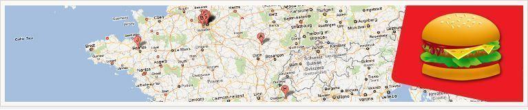 trouver la liste des mc do sur la carte de la France